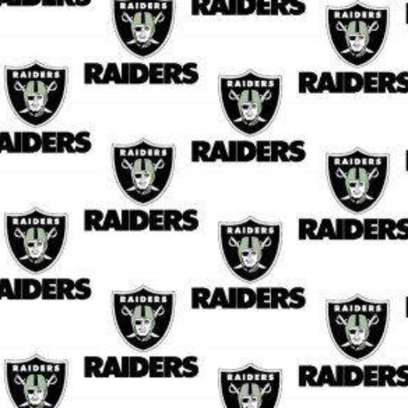 Fabric Traditions Office 12 Yard Nfl Oakland Raiders Football Cotton Quilt Poshmark